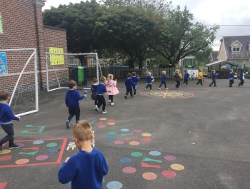 Reception's Musical Marching Band
