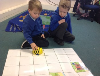 Coding with our bee-bots!