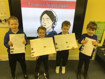 Learning all about Florence Nightingale in Year 1!
