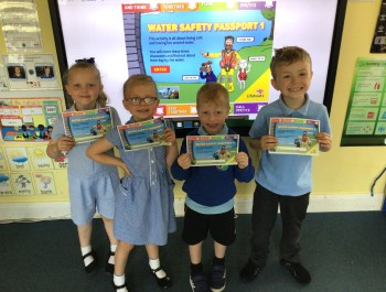 Earning our Water Safety Passports in Year 1!