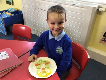 Vegetable Face Design in Year 1