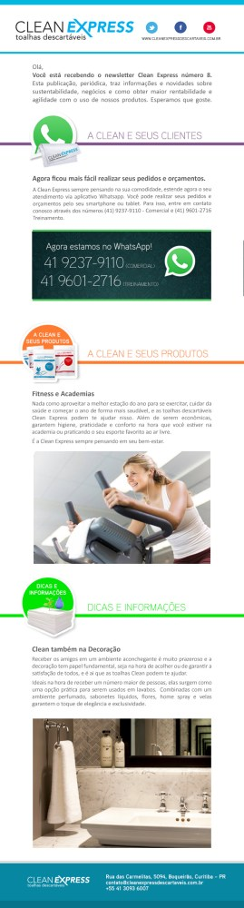 Clean Express Pontodesign Informativo E-mail Marketing