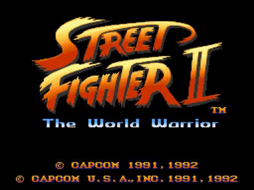 Tela como logotipo de SF2:WW, divisor de águas para os arcades de luta