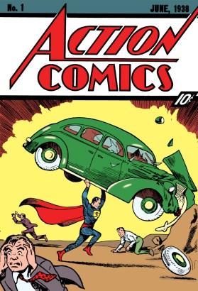 A icônica capa de Action Comics 1, o começo da era de Outro das HQs