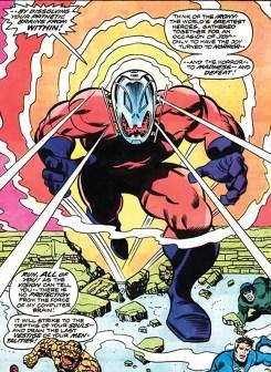 Ultron-7 no corpo do androide Omega