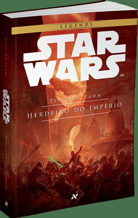 Capa da edição nacional de Herdeiro do Império, primeiro livro da Trilogia Thrawn