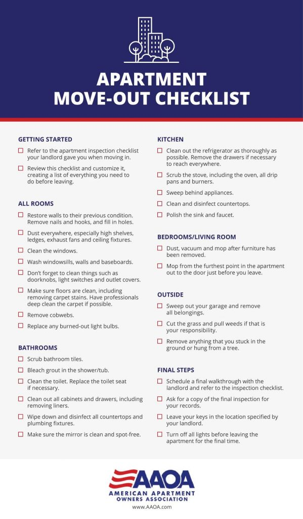 Apartment Move-Out Checklist