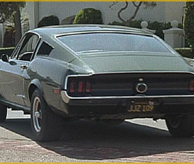 One Of The Two  Gt Bullitt Mustangs Minutes Before The Jumping Was Filmed Actually Only One Had A Roll Bar Installed Typically You Judge A Movie By Its
