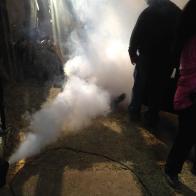 Smoke to add a dusty feel to set