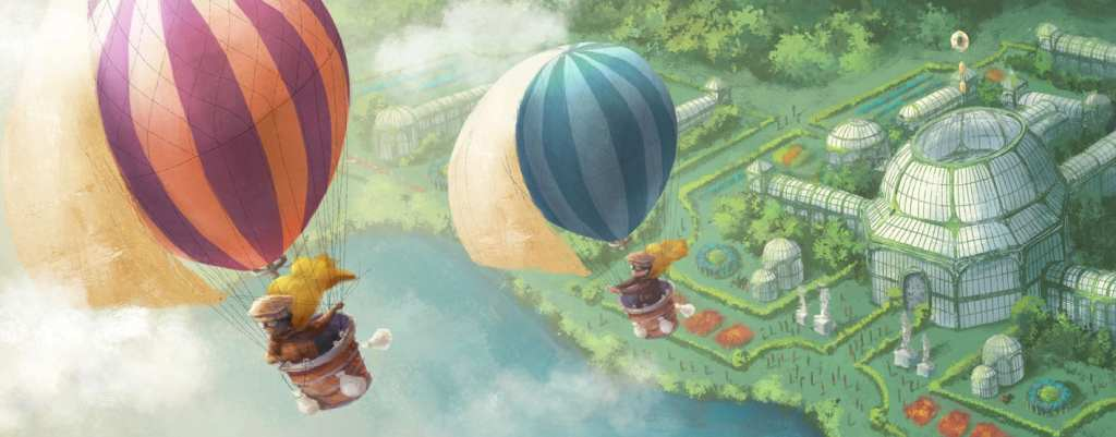 illustration hot air balloons by Stephanie Dehennin Poodlesoup