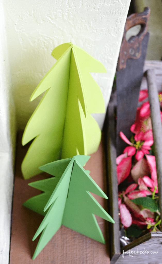 DIY 3D Wooden Christmas Trees