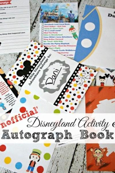 'Unofficial' Disneyland Activity & Autograph Book