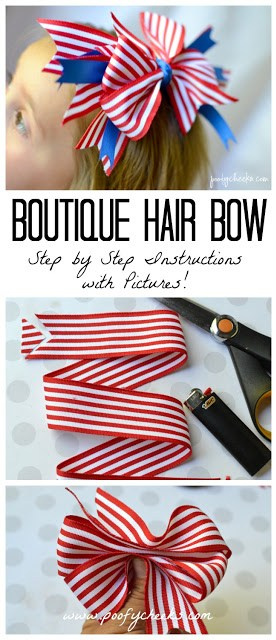 Boutique Hair Bow - Step by Step Insctructions