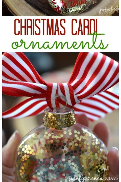 DIY Christmas Carol Ornaments – Free Cut File – Ornament Blog Hop