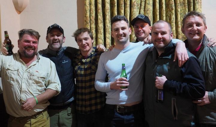 Phil Ratcliffe (GAIA, FFF, pro guide) Scott Webster (big game stalker) Mark Brando (river/game keeper) Tim Roberts (Islay Scottish Loch's)