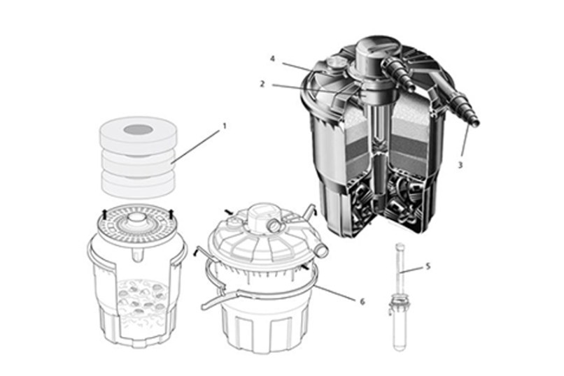 Hozelock Bioforce 9000 Filter Spares