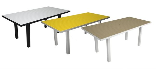 dining table 36 x 72 inch rectangle recycled plastic pool furniture supply