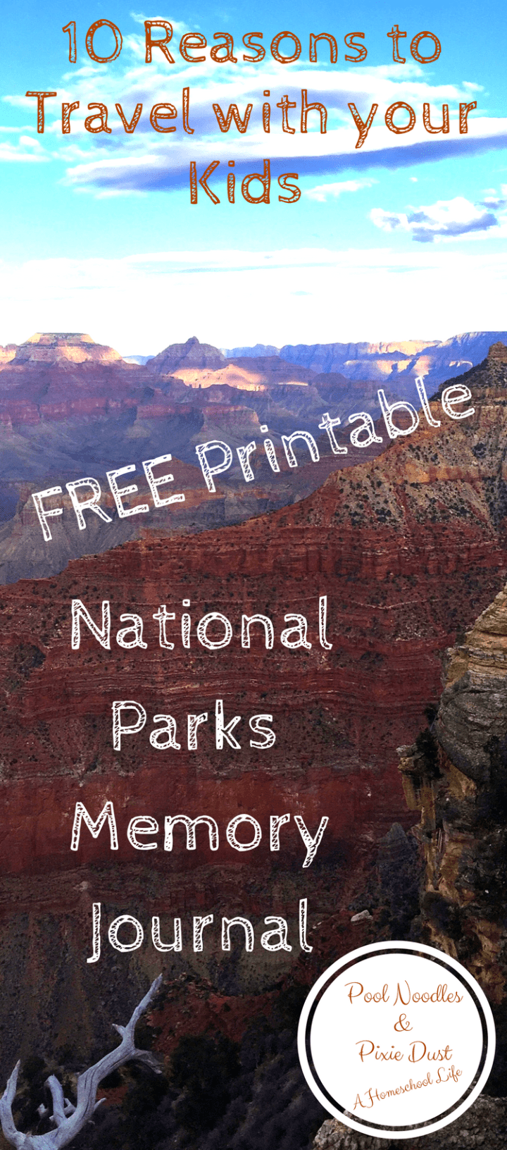 National Parks Memory Journal to record your memories and 10 reasons to travel with your kids.