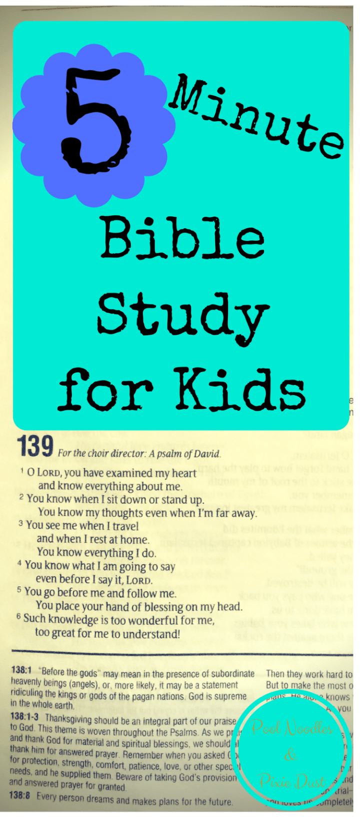 Simplify your Homeschool with 5-Minute Bible Studies for Kids