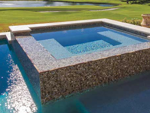 national pool tile cosmopolitan mosaic glass tile latte silver cos paris