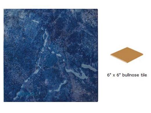 national pool tile blue seas 6x6 single bullnose pool tile royal blue sea royal sbn