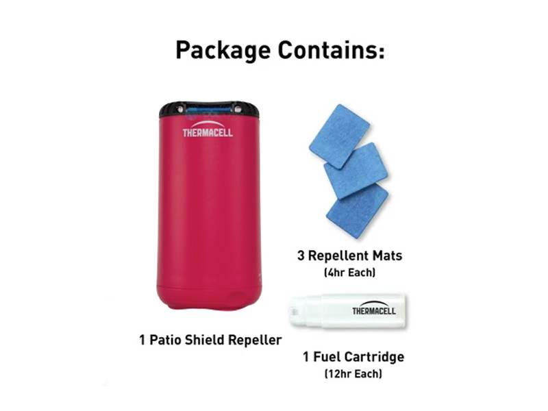 thermacell patio shield mosquito repeller magenta mrpsp