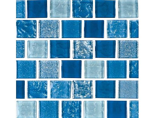 national pool tile soleil 1x1 glass series pool tile blue cleo1x1