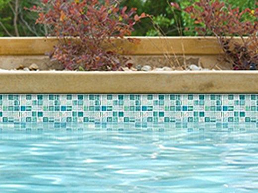 national pool tile santorini series 1x1 glass tile cerulean aqua san aqua