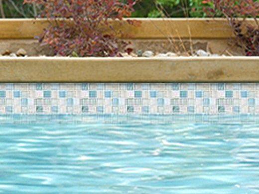 national pool tile santorini series 1x1 glass tile argent blue san blue