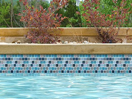 national pool tile jules 1x1 glass tile rustic blue blend 9730 5at