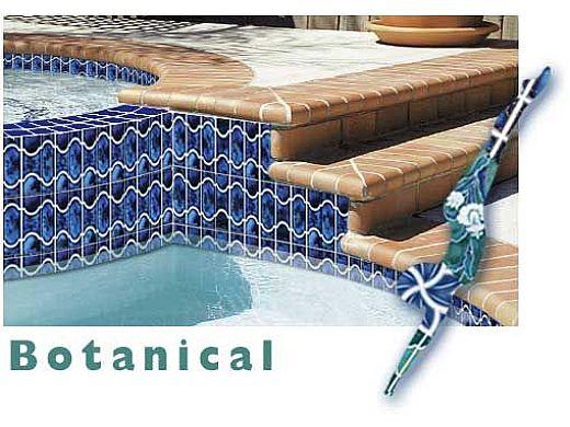 national pool tile botanical series pool tile sky blue bue22