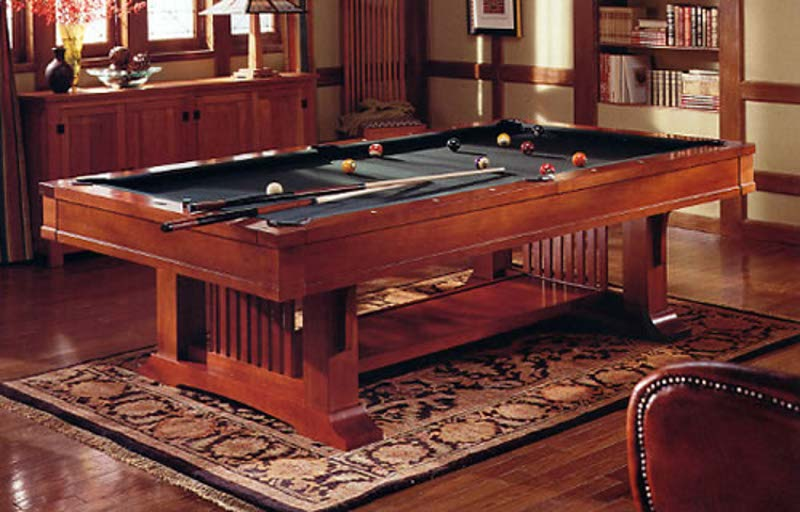 8 Brunswick Mission Pool Table For Sale In Cherry