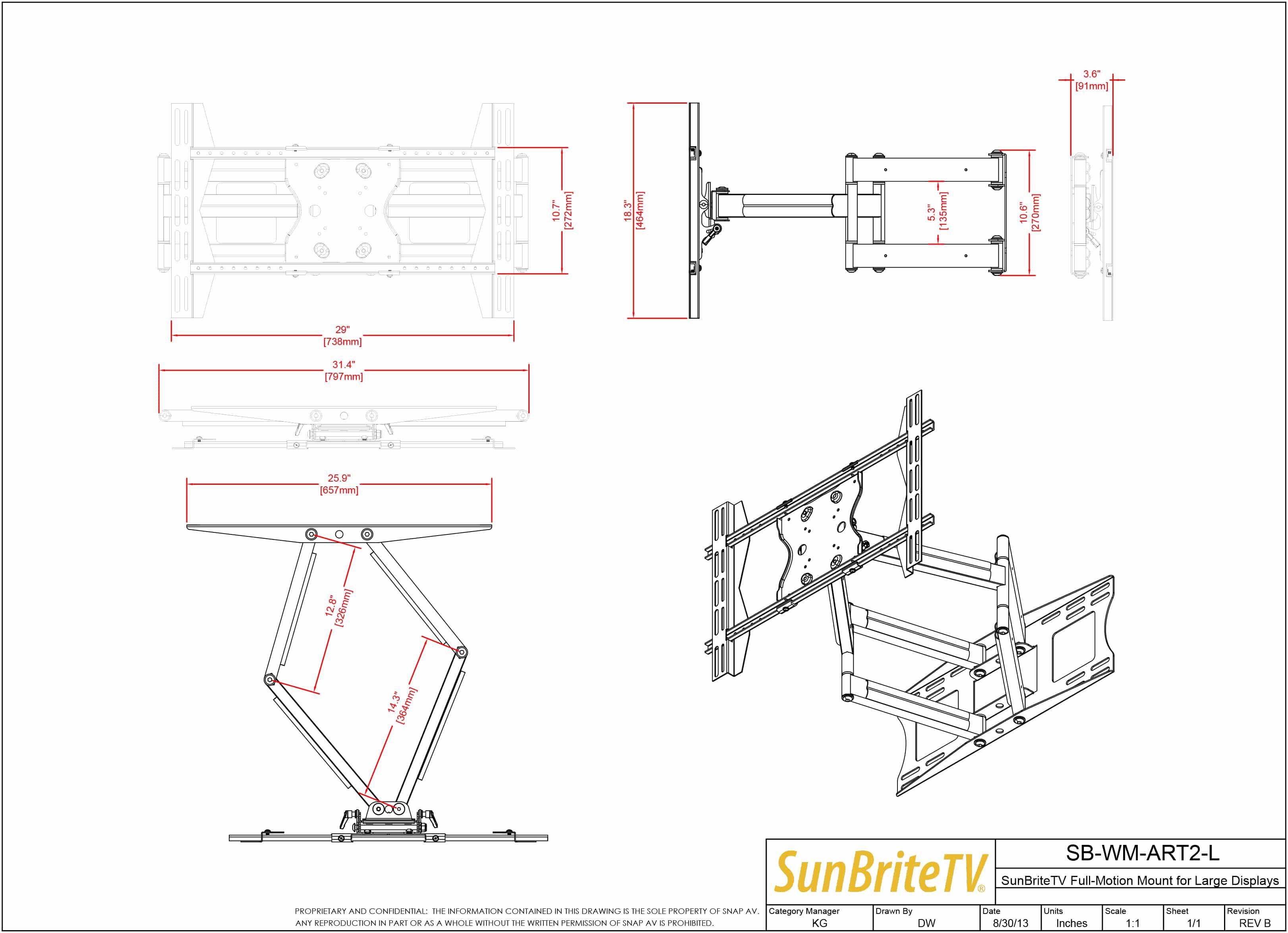 Sunbritetv Dual Arm Articulating Full Motion