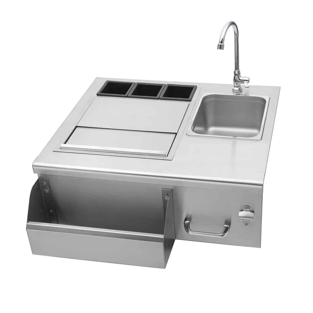delsol outdoor bar with sink