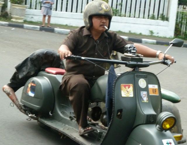 Scooter with Sidecar