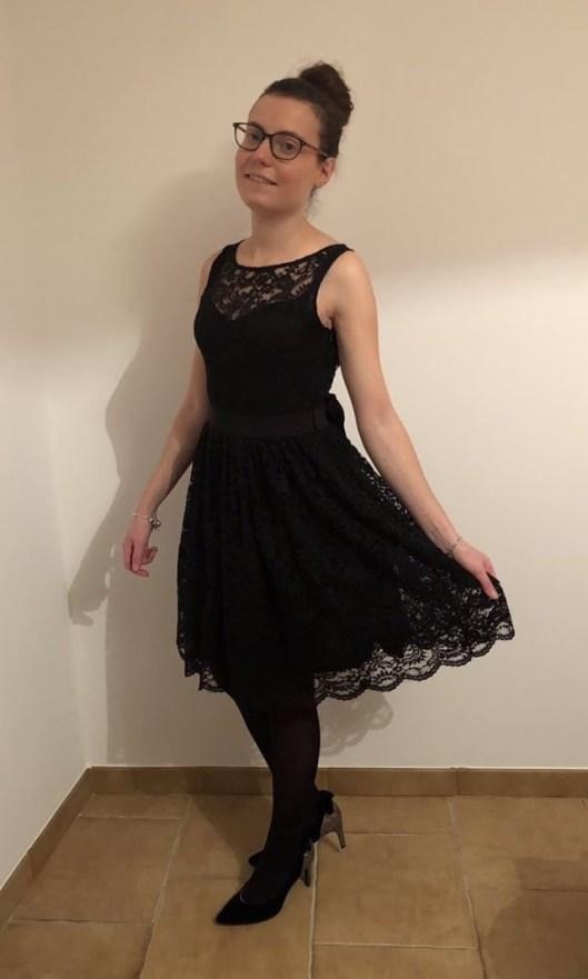 Robe femme en dentelle noire