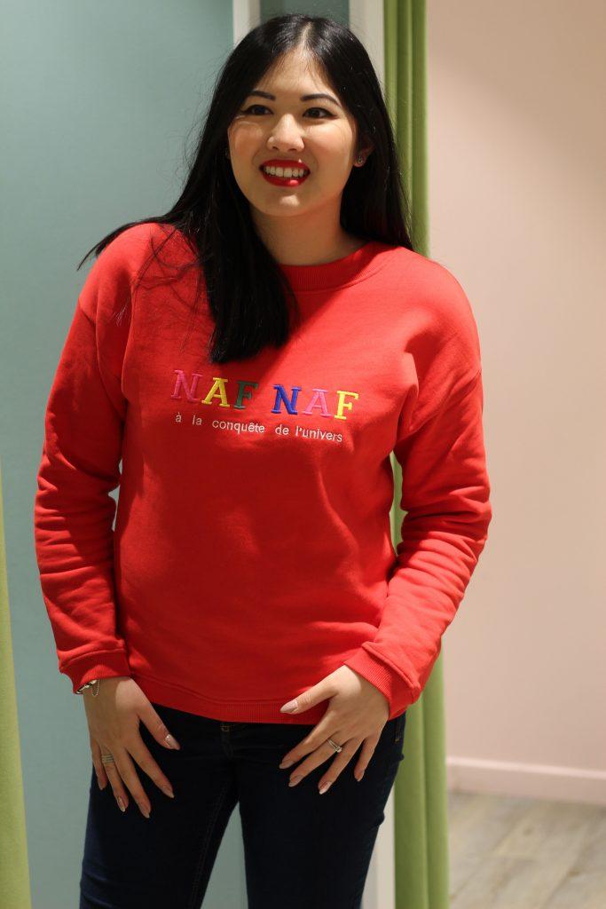 Sweat iconique NAF NAF rouge