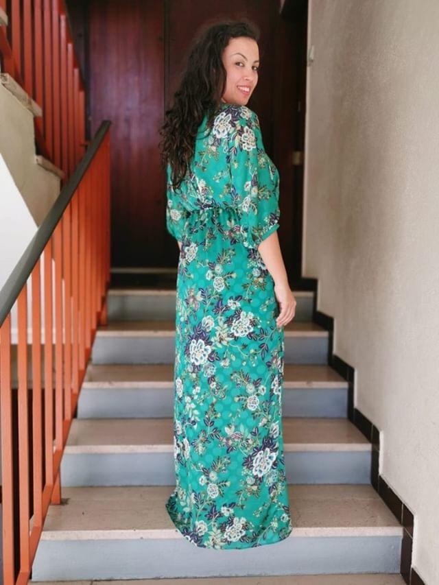 Robe longue imprimé fleurs