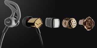 V-Moda's custom caps come in precious metals too.