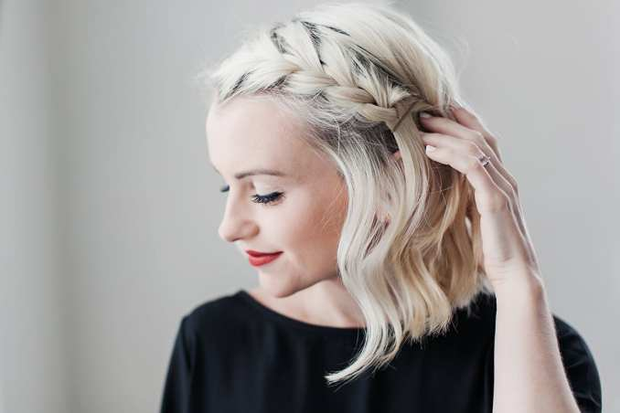 how to do a side braid on short hair | beauty | poor little