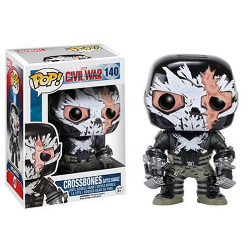 CIVIL WAR – CROSSBONES BATTLE DAMAGE – FUNKO POP! VINYL FIGURE