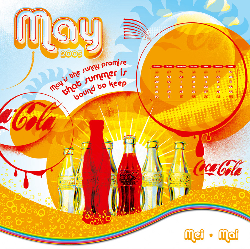 Pop Art Calendar : Coca cola retro pop art calendar gallery