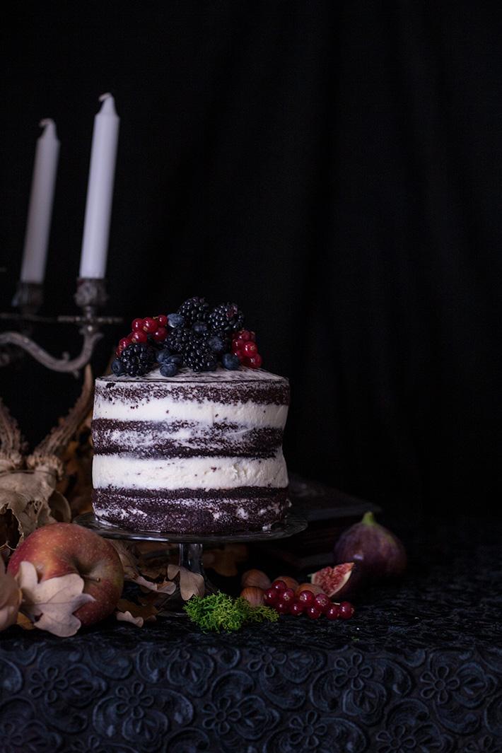Halloween layer cake - Salem - Chocolat