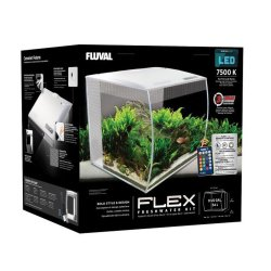 Fluval Flex Aquarium Kit, 9 US Gal (34 L), White
