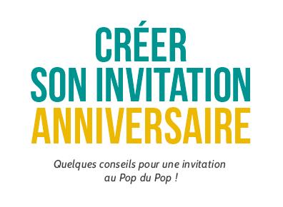 son invitation anniversaire minute pop