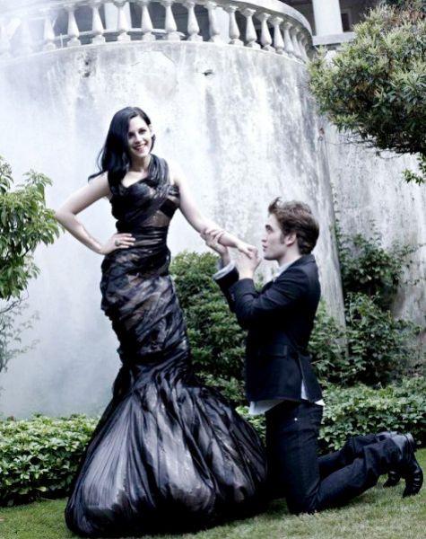 Роберт Паттинсон и Кристен Стюарт в журнале Harper's Bazaar. Декабрь 2009