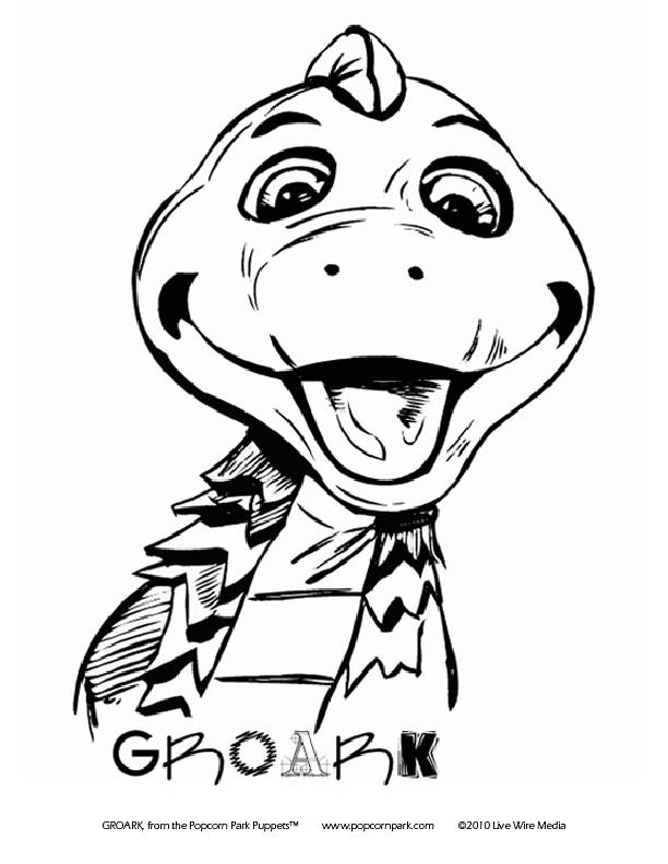 Coloring Pages Popcorn Park Puppets