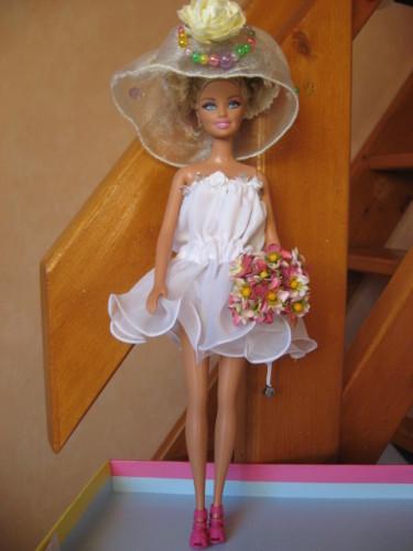 2 Robes De Marie Pour Poupe Barbie Pop Couture