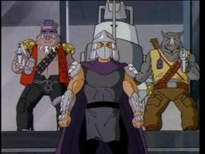 Shredder, Bebop, and Rocksteady
