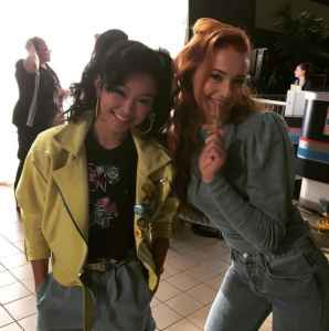 Jubilee (Lana Condor) and Jean Grey (Sophie Turner)